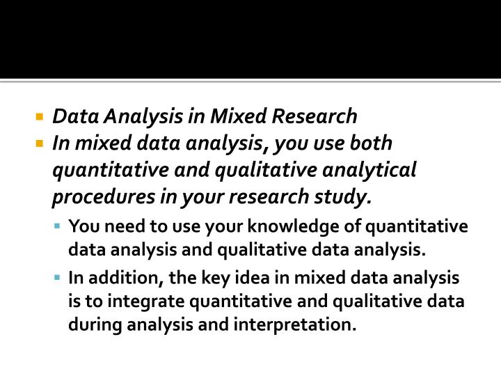 Data Analysis in Mixed Research