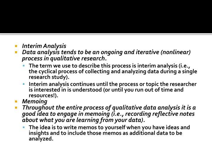Interim Analysis