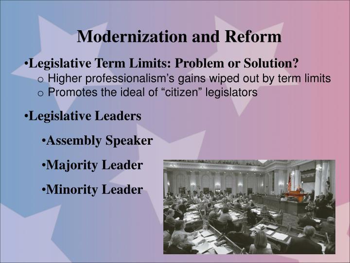 Modernization and Reform