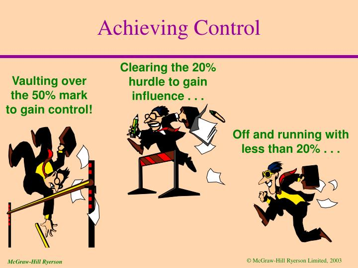 Clearing the 20% hurdle to gain influence . . .