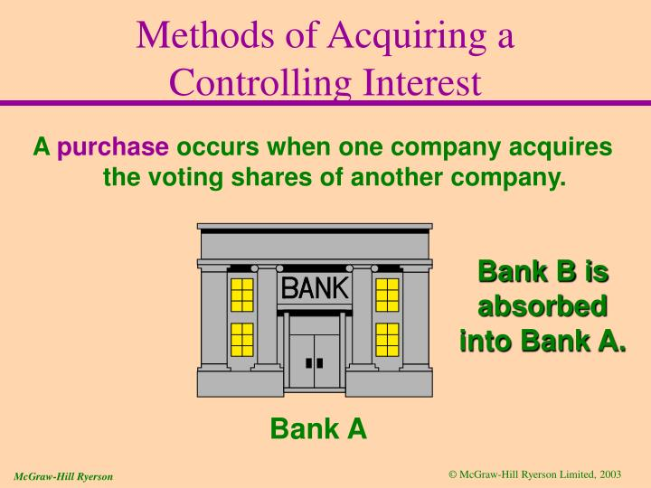 Methods of Acquiring a Controlling Interest