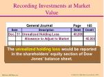 recording investments at market value4