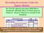 recording investments under the equity method1