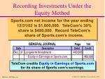 recording investments under the equity method2