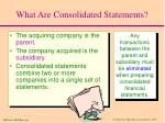 what are consolidated statements