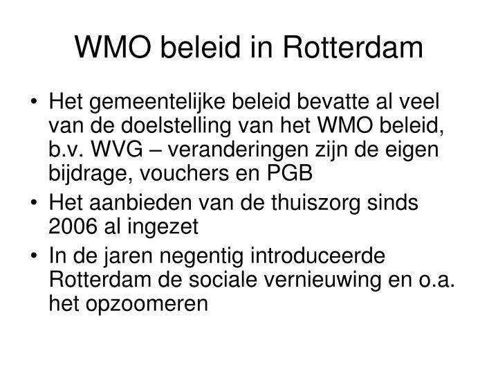 WMO beleid in Rotterdam