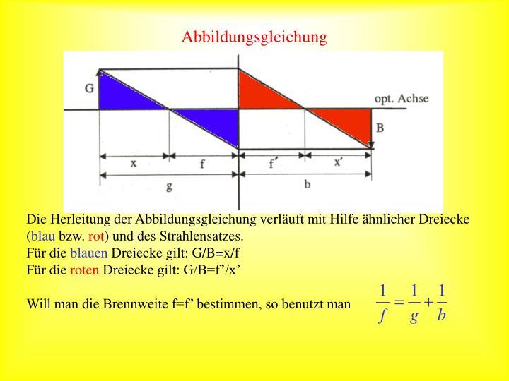 Abbildungsgleichung