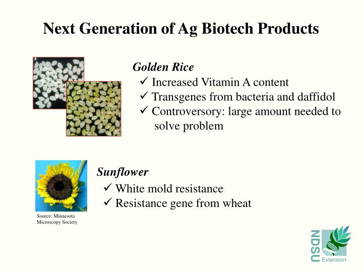 Next Generation of Ag Biotech Products