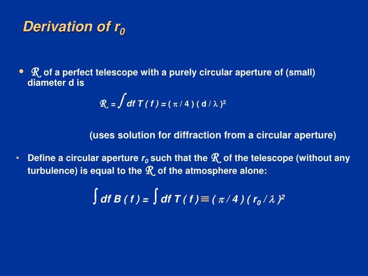 Derivation of r