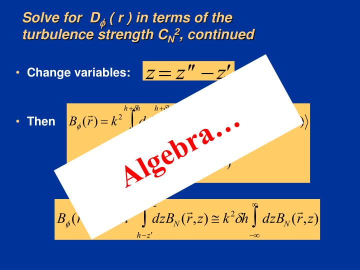 Solve for  D