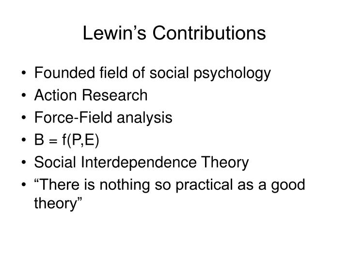 Lewin's Contributions