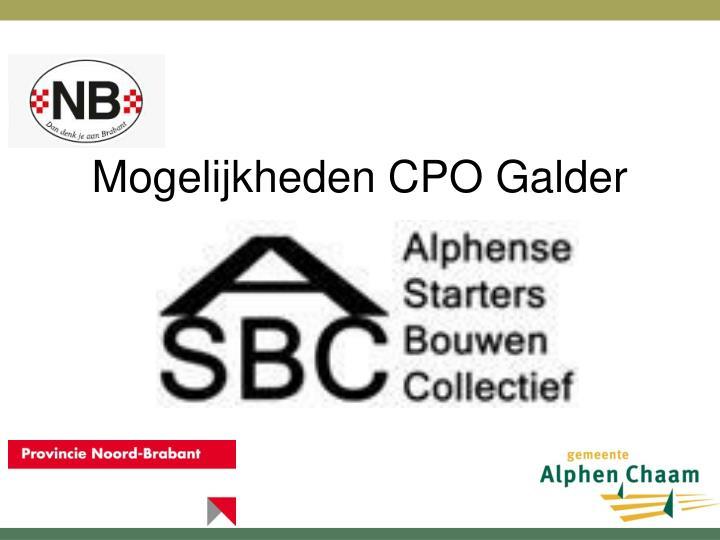 Mogelijkheden CPO Galder
