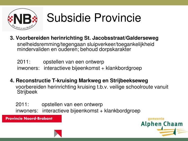 Subsidie Provincie