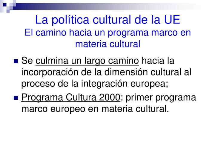 La política cultural de la UE