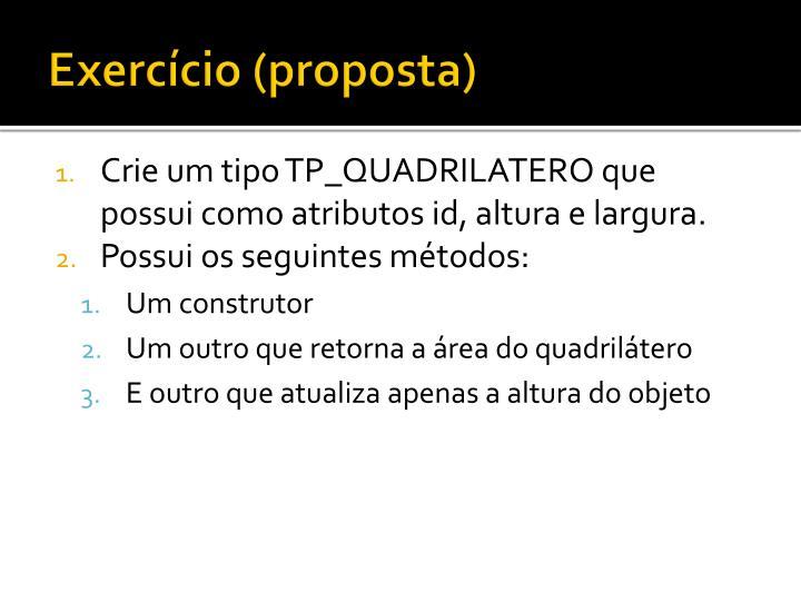 Exercício (proposta)