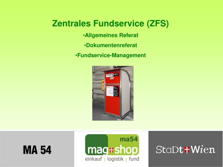 Zentrales Fundservice (ZFS)