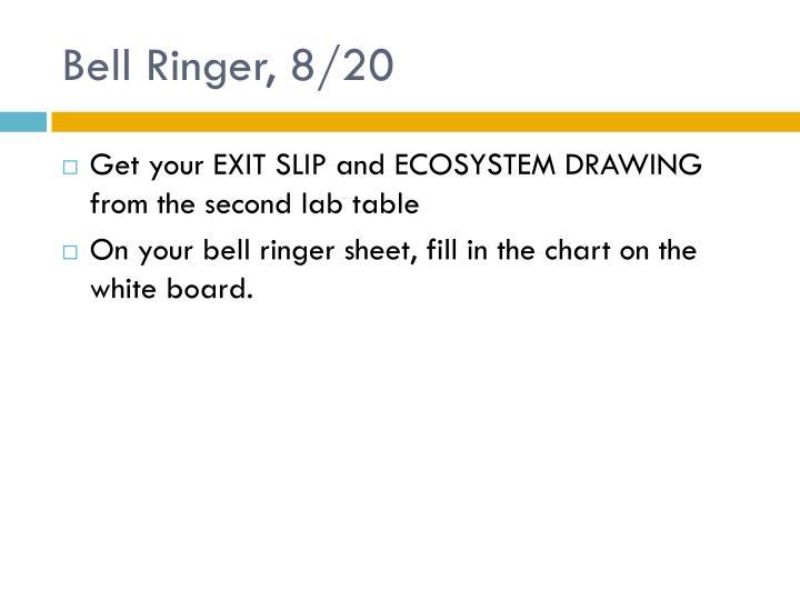 Bell Ringer, 8/20