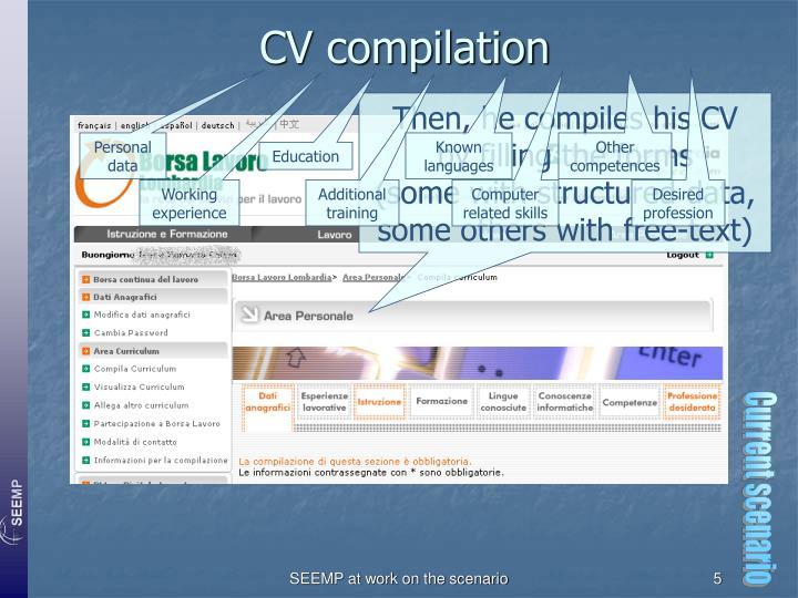 CV compilation