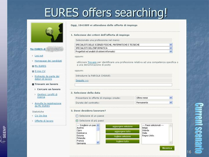 EURES offers searching!