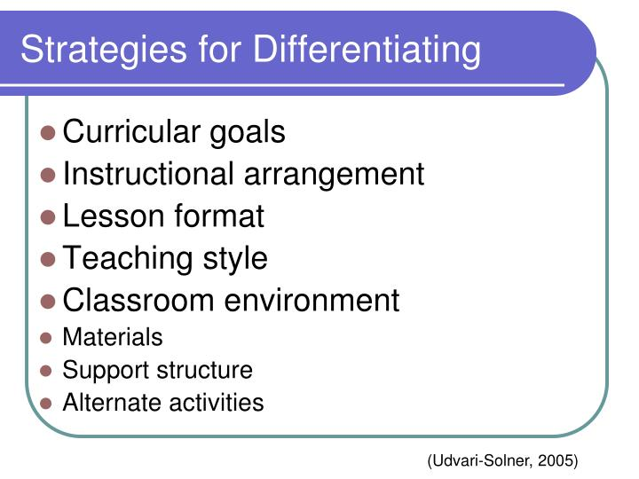 Strategies for Differentiating