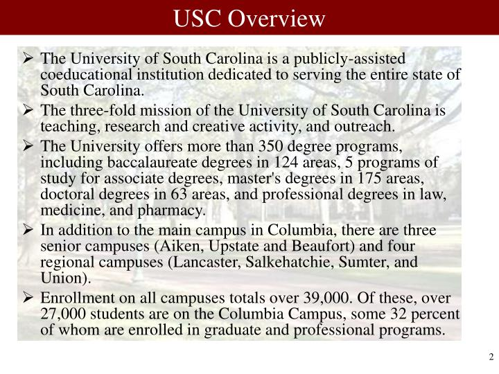 USC Overview