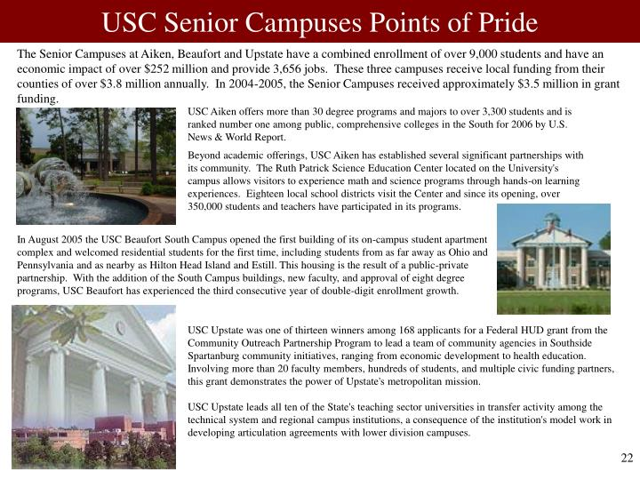 USC Senior Campuses Points of Pride