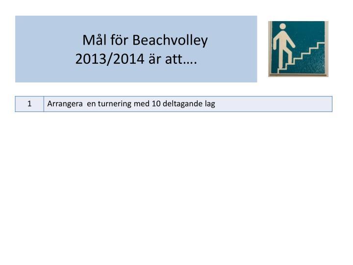 Mål för Beachvolley