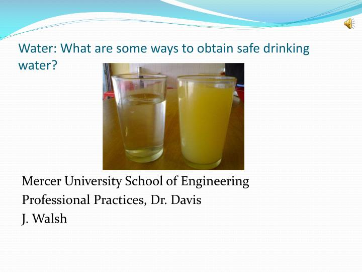 Water what are some ways to obtain safe drinking water