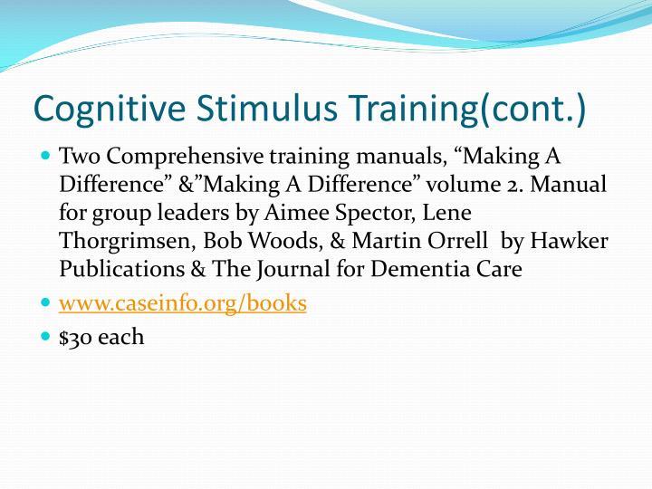 Cognitive Stimulu
