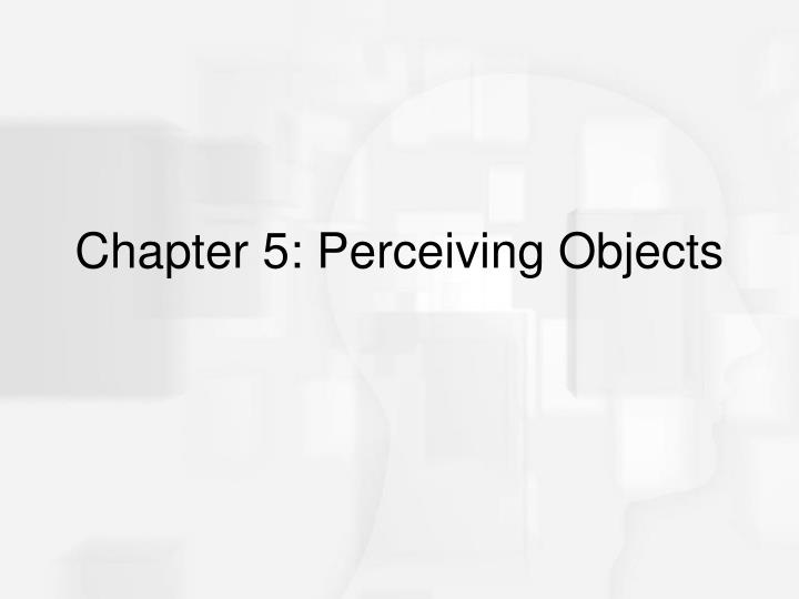 Chapter 5 perceiving objects
