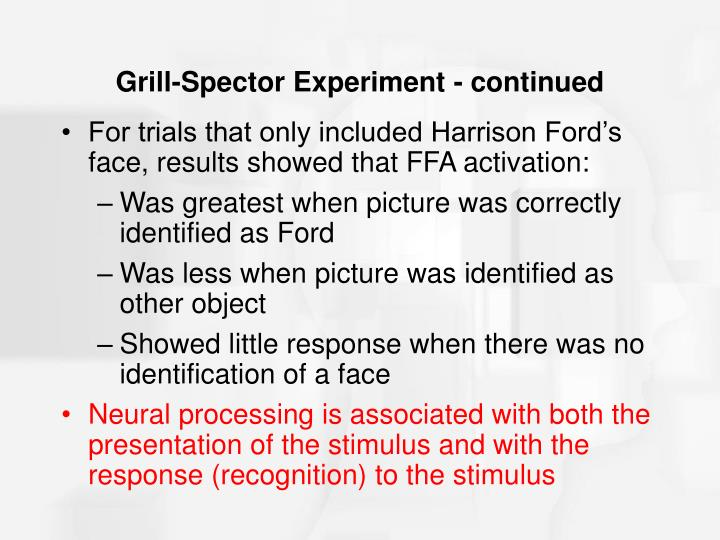 Grill-Spector Experiment - continued