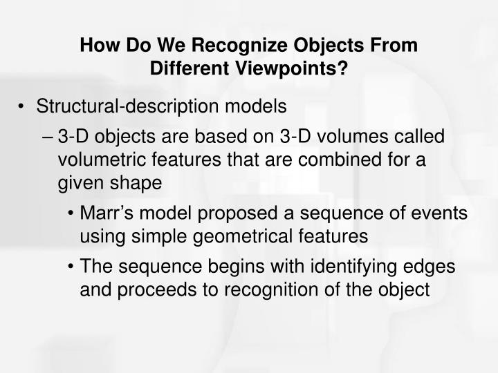 How Do We Recognize Objects From Different Viewpoints?