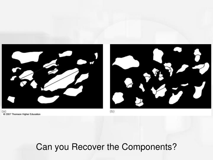 Can you Recover the Components?