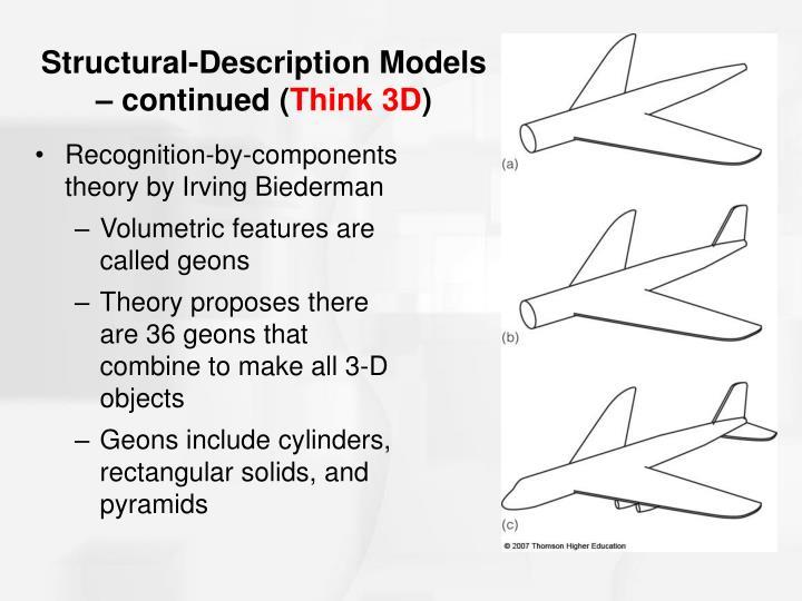 Structural-Description Models – continued (