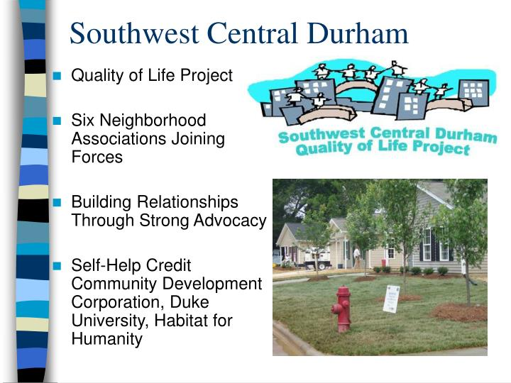 Southwest Central Durham
