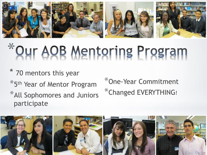 Our aob mentoring program