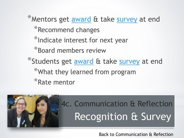 Mentors get