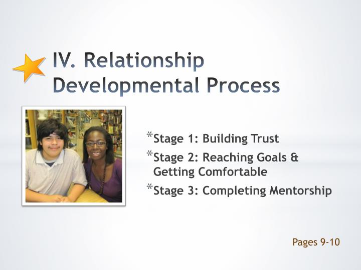 IV. Relationship Developmental Process