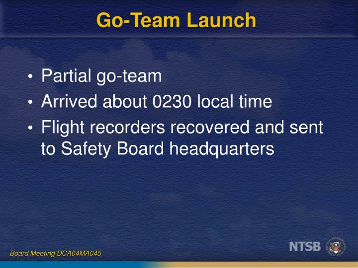 Go-Team Launch