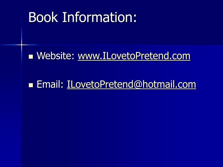 Book Information: