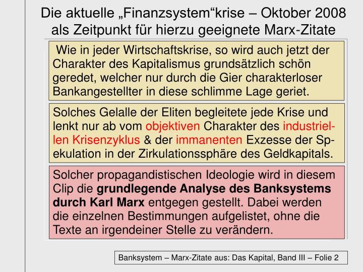 """Die aktuelle """"Finanzsystem""""krise – Oktober 2008"""