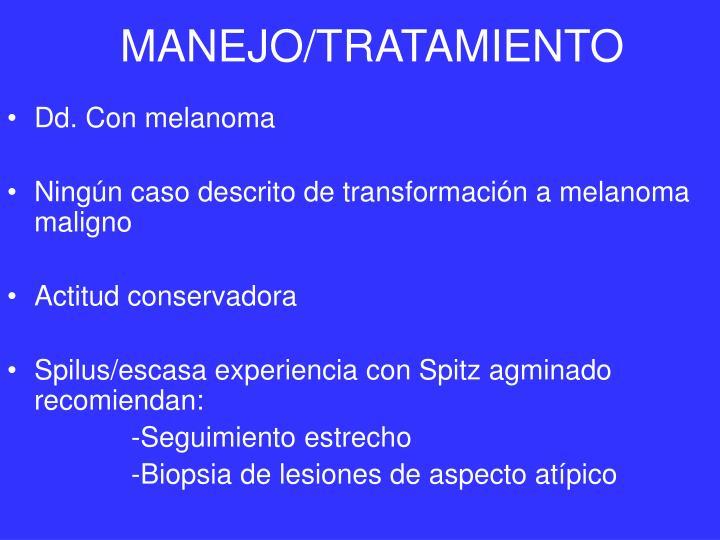 MANEJO/TRATAMIENTO