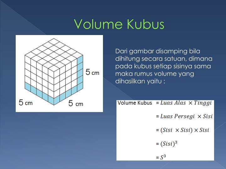 Volume Kubus