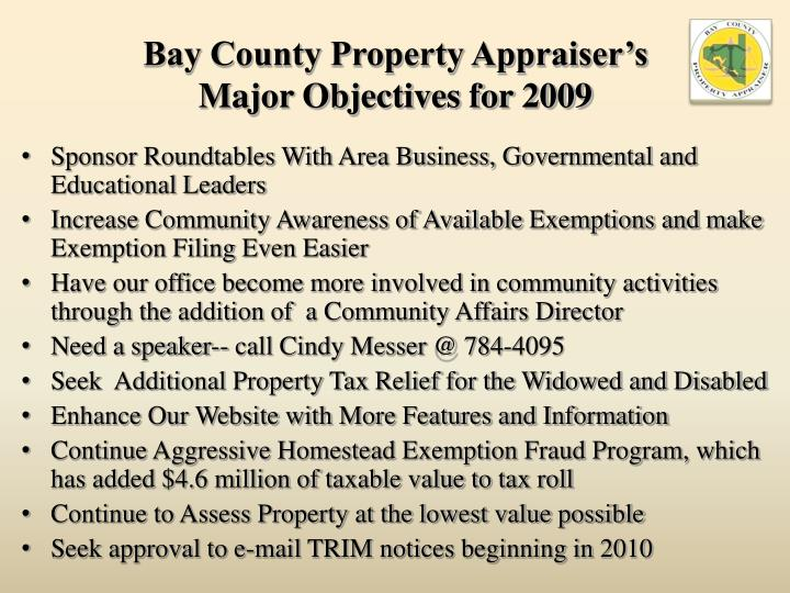 Bay County Property Appraiser's