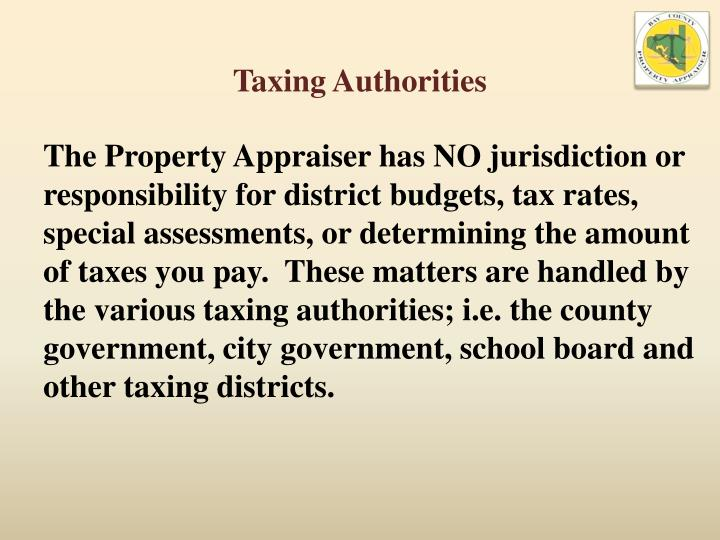 Taxing Authorities