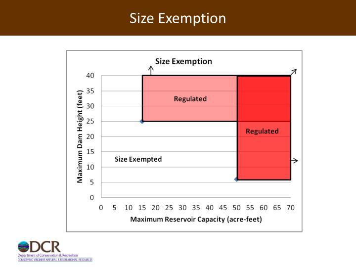 Size Exemption