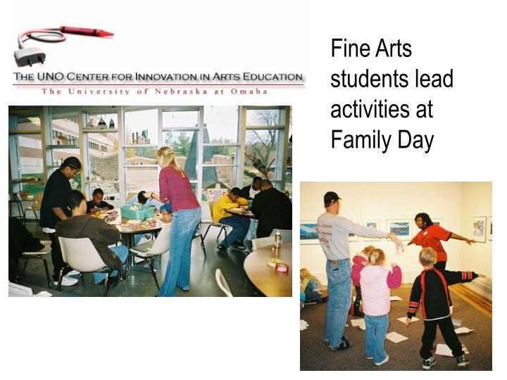 Fine Arts students lead activities at Family Day