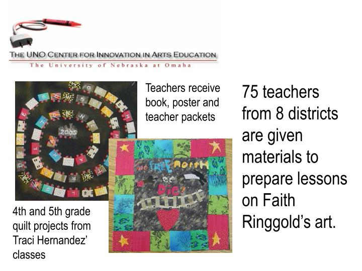 Teachers receive book, poster and teacher packets
