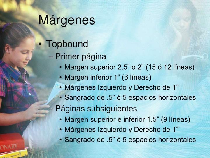 Márgenes