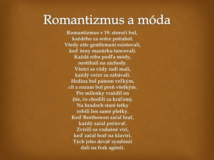 Romantizmus a móda